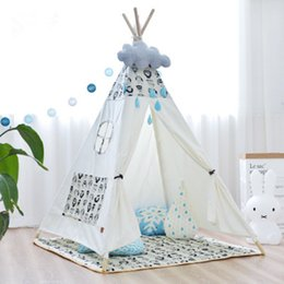Wholesale kids play teepee - Cotton Canvas Teepee tent for childrens Kids Play Tipi