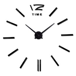 relógios únicos Desconto 2017 3d diy adesivo de parede relógio de parede de decoração para casa grande espelho relógio design moderno tamanho grande relógios de presente original