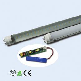 Luzes led tubo de emergência on-line-Hot 15pcs de venda / lot T8 Emergência LED Tube Luz quatro pés bateria 18W longa vida útil dentro