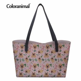 1d120ead4b8c Coloranimal Luxury Design Women Handbags Cute Puppy Dog Pug Welsh Corgi  Print Large Leather Tote Shopping Bags PU Handle-top Bag