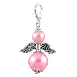 Gioielli dell'angelo custode online-Mjartoria 10 pz ciondolo con ciondolo ali di angelo ciondolo collana fai da te gioielli di moda 4x2 .3 cm ciondoli fai da te accessori per accessori gioielli