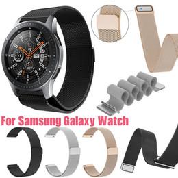 verriegelnder handgelenkstahl Rabatt Fashion Milanese Magnetic Loop Edelstahl Magnetverschluss Replacemen Armband für Samsung Galaxy 42mm / 46mm Handschlaufe