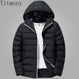 60bb26fc78972 Titmsny Men Jacket Winter Warm Hooded Collar Overcoat Casual Male Coat  Hoodies Slim Fit Windbreaker Mens Clothing Plus Size 4XL