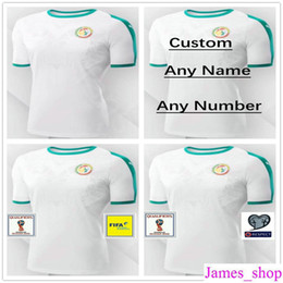 Wholesale soccer team numbers - 2018 World Cup National Team Senegal Soccer Jerseys 10 MANE Customized Any Name Number Home White Custom Football Shirts Uniforms