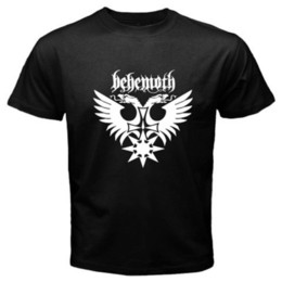 9bb3f9b88c3 Fashion 2018 Summer New BEHEMOTH Death Metal Rock Band Logo Men s Black T-Shirt  Size S to 3XL New Arrivals Casual Clothing