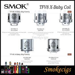 V8 baby x4 bobina online-SMOK TFV8 X-Baby Coil para 4ML SMOK TFV8 X-Baby Beast Tank V8 Bebé X Q2 0.4ohm T6 0.2ohm V8 X M2 0.25ohm X X4 Núcleo 3pcs / Pack 100% original