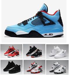 Verkauf neue 2018 beste Qualität 4 4s Weiß Zement Pure Money Männer Basketball Schuhe gezüchtet Königsspiel Royal Sports Turnschuhe mit Schuhen Box von Fabrikanten