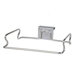 Wholesale u type - Sturdy Stainless Steel Storage Hooks U Shape Door Back Type Design Trash Bag Shelf Wear Resistant Hanging Racks Durable 7 7qq B