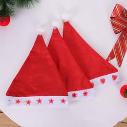 decorazione flash Sconti Cappello di Babbo Natale incandescente luminoso LED lampeggiante stella cappello di Babbo Natale per unisex accessori di decorazione di Natale LE102
