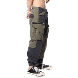 trousers military women Coupons - 18SS Luxury Soldier Pants Sweatpants Fashion Vintage Street Casual Loose Pants Trousers Men Women Military Uniform Army Pants HFYMKZ067