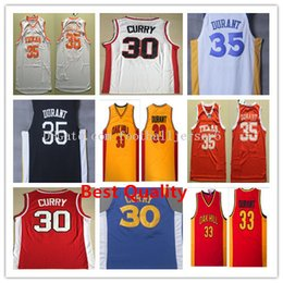 Wholesale Free Ncaa - NCAA Stephen Curry 2018 New basketball jerseys mens kevin durant college white black blue cheap sale clothing Sports Style Free Shipping
