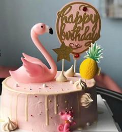 2019 косметика tarte Розовый фламинго торт Топпер декор день рождения свадьба годовщина Led мигает светящиеся фламинго ночь свет курица Рождество украшения партии Diy реквизит