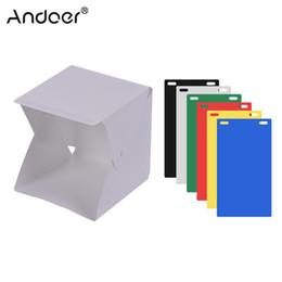 Prodotti di vita online-vendita all'ingrosso Riprese da tavolo Portable LED Studio Light Box Tent Kit Mini Softbox fotografico pieghevole per prodotti Still Life Shooting