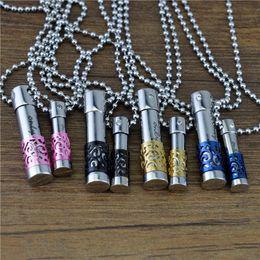 Bouteille de parfum pendentif colliers inoxidable sans huile essentielle huiles Crystal Diamond Lovers huile bouteille diffuseur médaillon en gros ? partir de fabricateur