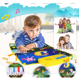 Wholesale Musical Play Mats - Hot Baby Musical Carpet Child Kids Baby Zoo Animal Musical Touch Play Singing Carpet Mat Toy Instrumentos Musicais Lowest Price