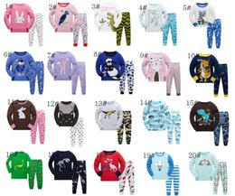 Wholesale Girls Pajamas Size - Kids Pajamas Sets Girls Boys Night Clothing Children Cotton Sleepwear Children Pyjamas Kids Cotton Nightwear size 2-7Y