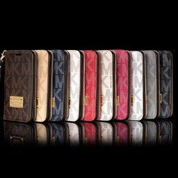 Wholesale Cellphone Wallet Cases - Full Body Leather Wallet Flip Style Phone Case for IPhone X 8 7 6S 6 Plus Cover Cellphone Protective Shell with String