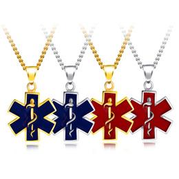 89b09d7e0728 Collar Colgante Estrella de la Vida de acero inoxidable Logo EMSS Bisutería  Accesorios de Moda Vintage Hexagrama Unisex Collares Regalo Al Por Mayor