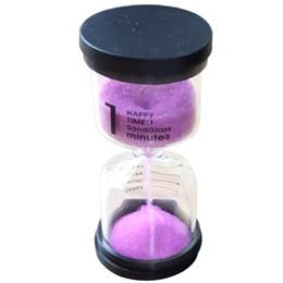 Reloj de arena de minutos online-Practical Boutique 1 Pink Glass + Sand 1 minuto tic hour Reloj de arena Con embalaje 10 * 4.3cm