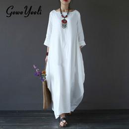 Vestidos blancos sueltos largos