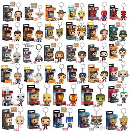 2019 balle spiderman Funko POP Marvel Super héros Harley Quinn Deadpool Harry Potter Goku Spiderman Joker Jeu de Thrones Figurines Jouet Porte-clés figurines d'action balle spiderman pas cher
