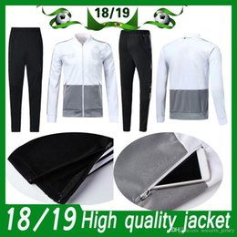 2d53d0c810d Germany Long Sleeve Jacket Suit adult Kit Soccer Jersey Training Uniform  2018 19 Germany jacket Football Suits Jacket+Pants kits training for sale