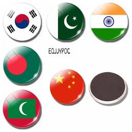 china asien Rabatt 10 stücke Asien Flagge Kühlschrankmagnet China Thailand Singapur Indien Malediven Glaskuppel Magnetische Kühlschrank Aufkleber Hinweis Wohnkultur
