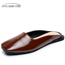 Wholesale women brown oxford heels - Genuine leather oxford sandals woman US 8 oxford shoes handmade brown colors 2017 oxfords shoes for women