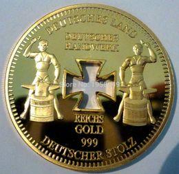 2019 barren gold Gold überzogene Münze 24k Imitat Barren