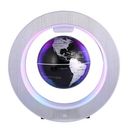 "Wholesale Levitation Globe - 4"" LED Novelty Magnetic Levitation Floating Globe LED Floating Tellurion With LED Light Home Decor Office Ornament US EU UK Plug"