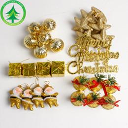 Noel Ağacı Süs Kolye 28 adet Setleri Noel Baba Yıldız Topları Bells Noel Ev Festivali Asma Dekorasyon Aksesuarları B48 nereden yuvarlak düğün masa örtüleri tedarikçiler
