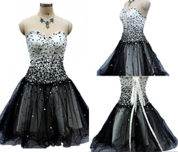 af905d22b92 High-quality A-Line Free Shipping New Black Prom Gowns Tube Top Halter  Strap Short Tulle Party Cocktail Dresses DH288 sweetheart beaded halter  straps on ...