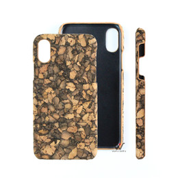 Wholesale Wood Cork Case - Eco-friendly cork wood cell phone cases for iPhone x 10 slim mobile cellphone back covers original factory direct winwin phones accessories
