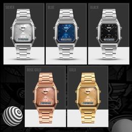 SKMEI мужчины мода повседневная Кварцевые наручные часы цифровой двойной время спортивные часы хронограф водонепроницаемый Relogio Masculino 1220 от