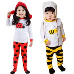 Wholesale Girls Nightgown Sets - Child cartoon pajamas Boy Girl Pajamas Set Kids T shirt and Pant 2-Piece Sleepwear Cotton clothing set age 2y-7y