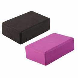 Promozione vendite 23 * 15 * 8cm Home Exercise Tool Buon materiale EVA nero Yoga Block Brick schiuma Sport strumenti all'ingrosso cheap yoga bricks wholesale da mattoni di yoga all'ingrosso fornitori