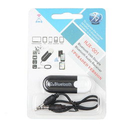 telefones do altofalante do carro do bluetooth Desconto HJX-001 Bluetooth 4.0 Música Receptor de Áudio Estéreo Speaker 3.5mm A2DP Adaptador Dongle para Carro AUX Android / iOS Telefone Móvel