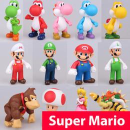 Fabricants de poupées en Ligne-13cm Super Mario Figurines Jouets Super Mario Bros Bowser Luigi Koopa Yoshi Mario Maker Odyssey PVC Action Figure Modèle Poupées