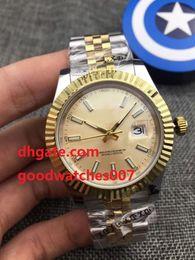 Wholesale Yellow Sapphire Bracelet - Top Quality Luxury AAA Sapphire Yellow Dial 41mm 126333 Steel & Yellow Gold Jubilee Bracelet Silver Automatic Mechanical Mens Men's Watch