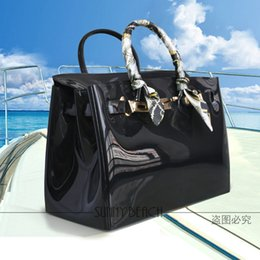 waterproof pvc handbags Coupons - Hot sale popular turquoise bag female handbag plastic PVC waterproof rubber bags jelly beach bags candy color women purse