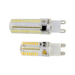 Wholesale G9 Led Cold White - 5pcs lot Replace 30W 40W Halogen Lamp Super bright warm white cold white 360degree 220V 104 smd 3014 G9 LED 6W 9W Light Bulb