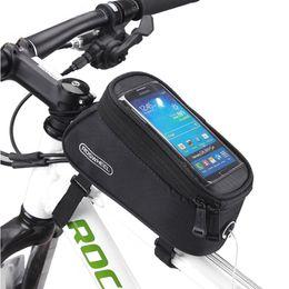 montaje del teléfono para el ciclo Rebajas Bicicleta Bike Phone Holder Frame Motorcycle Handlebar Soporte de montaje Ciclismo Riding Mountain Road Bracket Móvil Cell Gps Accesorio