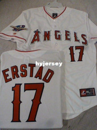 Wholesale 4xl Tall - Cheap custom MAJESTIC #17 DARIN ERSTAD 2002 WORLD SERIES Sewn Jersey Mens stitched jerseys Big And Tall SIZE XS-6XL For sale