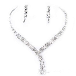 Clearbridal Rhinestones Necklace Earrings Jewelry Sets Bridal Party 15023