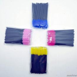 50pcs Monouso Giallo Blu Viola Colore Rosa Maniglia Spazzola per ciglia Mix Colori Pennelli Trucco Strumento Ciglia Mascara Bacchette Logo Privato da
