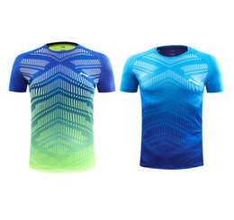 Wholesale workout clothes women xl - 2018 new Men Women Tennis shirts Outdoor sports O-neck clothing AT DRY GYM workout polo badminton Short sleeves t-shirt tees tops Uniforms