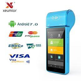 cartes glissières Promotion Dispositifs portatifs sans fil Bluetooth Wifi d'Android de terminal portatif d'imprimante thermique mini portative