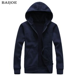 Wholesale Korean Couple Pullover - New 2017 spring men's Sweatshirt Korean wild fashion casual zipper couple long-sleeved hooded simple solid color cardigan jacket