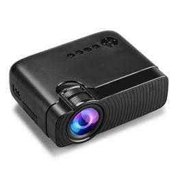 sistema de jogos de video por atacado Desconto Atacado-Portátil LED Projetor Para Full HD Mini LED Cinema Vídeo Digital HD Projetor Home Theater Projetor com USB HDMI 3D RED AND BLU