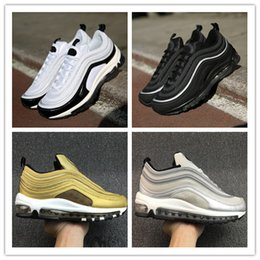 Wholesale Max Edition - Maxes 97 Mens Low Running Shoes Cushion Men OG Silver Gold Anniversary Edition Sneakers Man Maxes Sport Athletic Sports Trainers Shoes 40-46